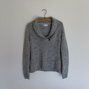 Charter Club Gray Marled Knit Sweater / S